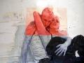 M. Falsini, White room, tecnica mista,cm. 135x200, 2010