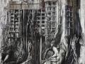Trecchi, Archi-nature-III, olio su tela, 150x100, 2015