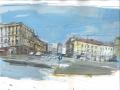 M. Previtali, Porta Venezia, MI, tecnica mista su carta, 2015