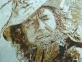 Ermanno Poletti, Fausto De Stefani, graffito su intonaco, cm 150 x 120, (2017)