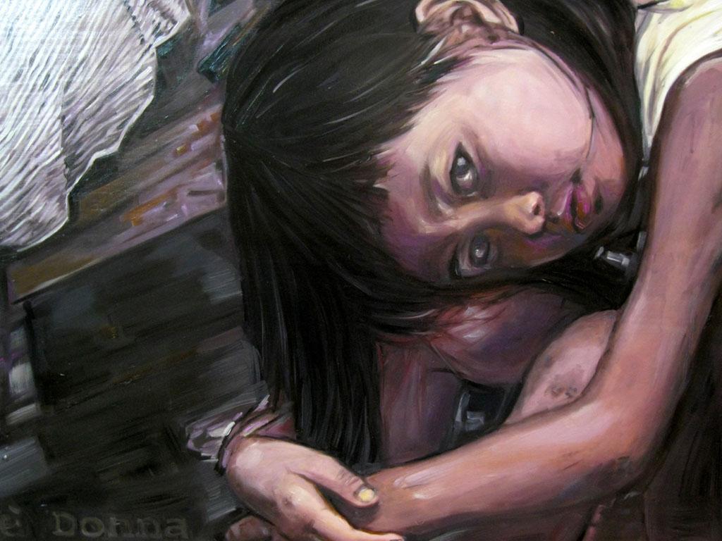 M. Falsini, La terra è donna e madre, tecnica mista, 51x63, 2010