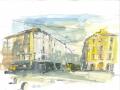 M. Previtali, Porta Genova, MI, tecnica mista su carta, 2013