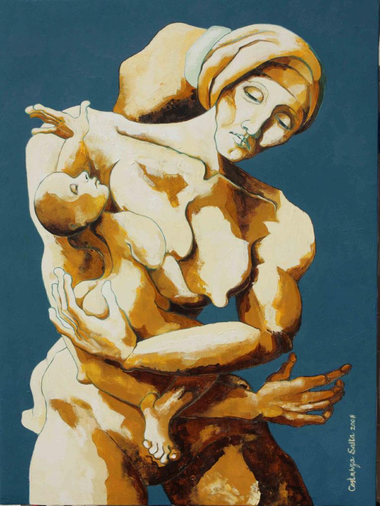 Costanza Satta, Maternità, olio su tela, cm60x80, 2008