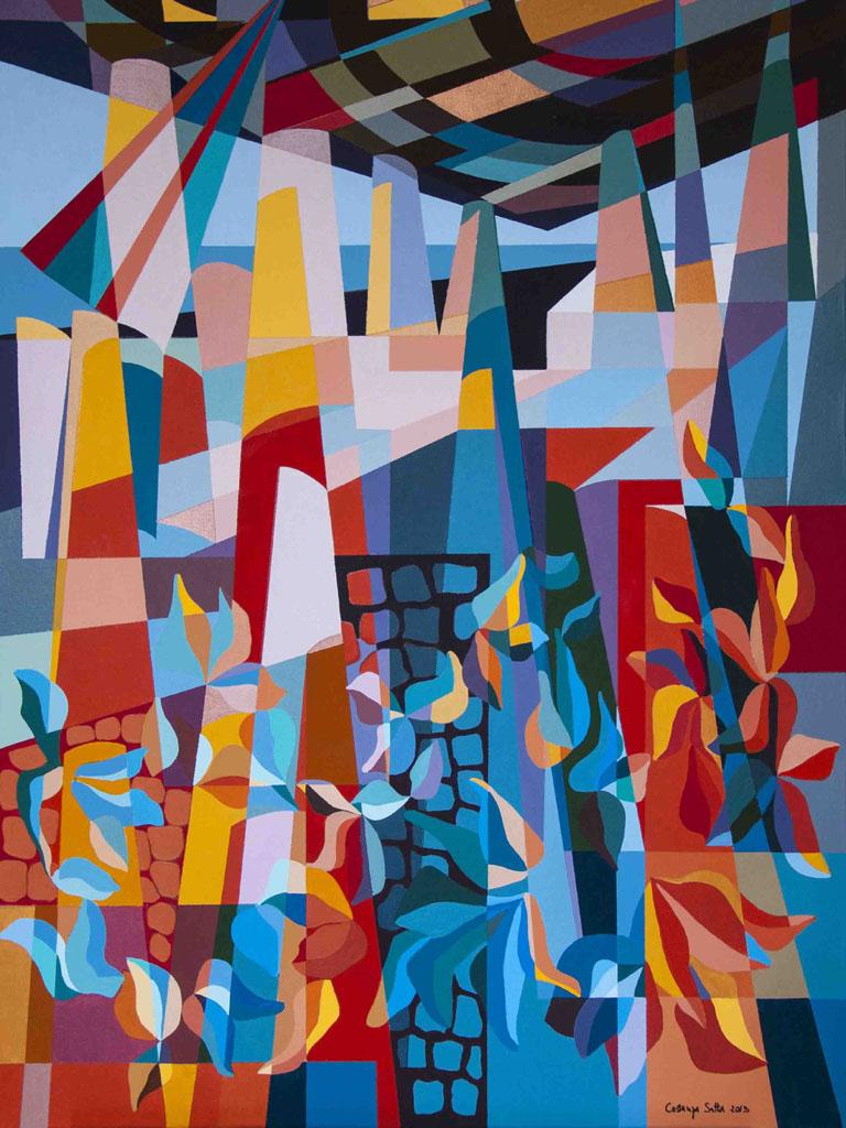 Costanza Satta, Paesaggio, olio su tela, cm60x90, 2013