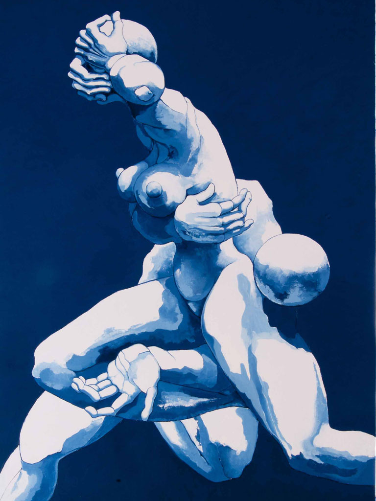 Costanza Satta, Slancio vitale, olio su tela, cm70x110, 2012