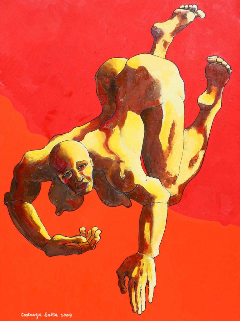 Costanza Satta, Sofferenza, olio su tela, cm70x100, 2009