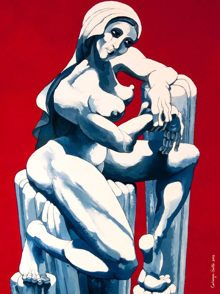 Costanza Satta, Solitudine, olio su tela, cm70x110, 2012