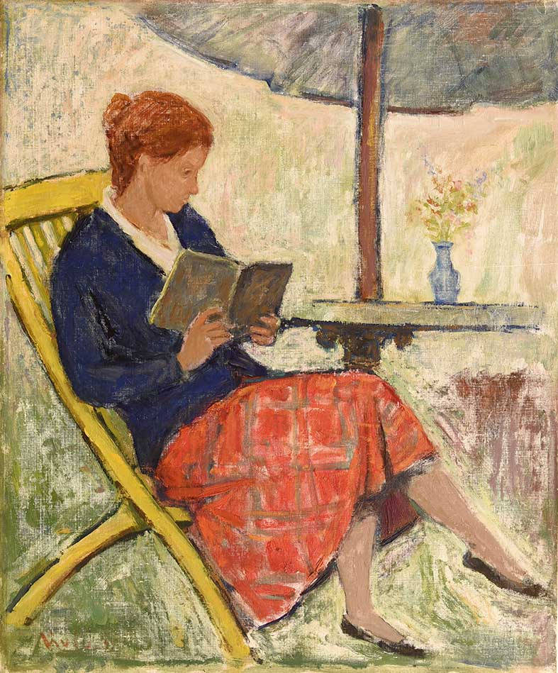 Casa 19 _DSC4251Bassa (Donna in giardino 50x60 1955 tempera su tavola VII Quadr. Naz. d'Arte Roma 1955-56)