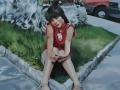 Francesca Marzorati, estate,olio su tela,2007 cm150X120