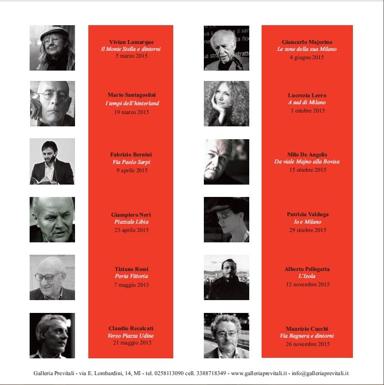 Retro brochure Quartieri di poesia