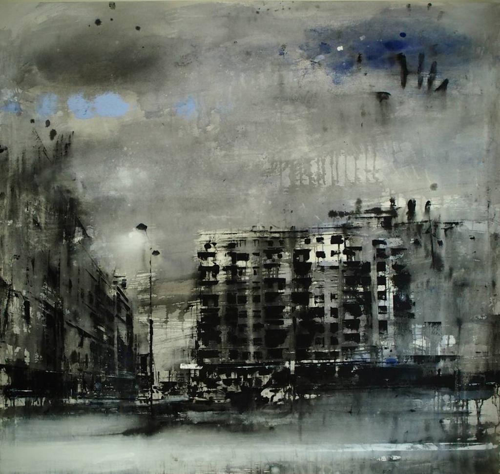 """D. Cestari, """"La nube solitaria fugge"""", olio su tela, 2015"""